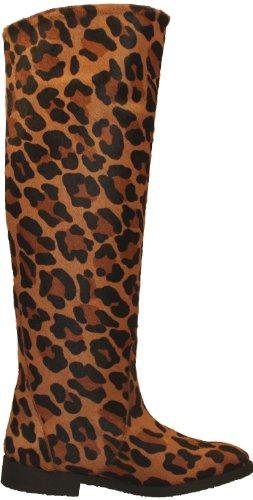 Luipaard Laarzen - Knie Hoge Schacht-laarzen Gemaakt Van Echt Bont In Leo-look Met Dierlijke-print - Boots Patagonia