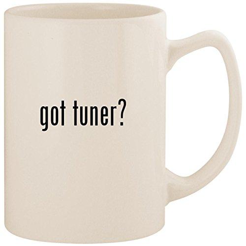 got tuner? - White 14oz Ceramic Statesman Coffee Mug Cup