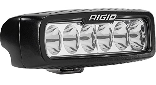 Rigid Industries 914313 SR-Q Series Pro Driving Light; Surface Mount; 5 in.; Specter; 6 White LEDs; Black Rectangular Housing; Single;