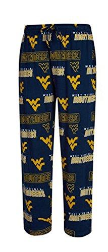 West Virginia Mountaineers NCAA Scattern Logo Pattern Pajama Pants Large 36-38