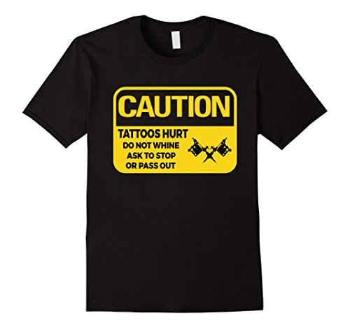 Mens Caution Tattoo Artist Funny T Shirt Gift for Tattooist 2XL Black