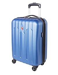 Swiss Gear Chrome Hardside Spinner International Carry-On Luggage 20-Inch, Blue