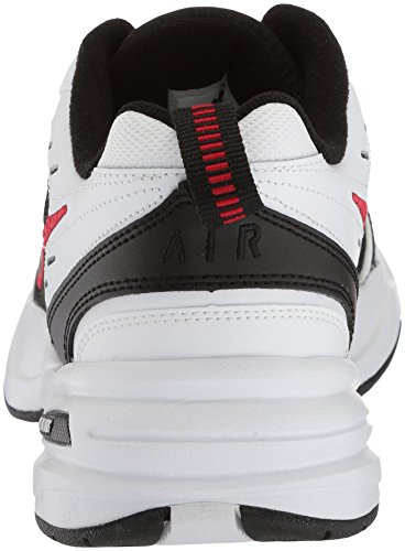 Nike Hombres Air Monarch Iv Cross Trainer Blanco / Negro / Rojo Universitario