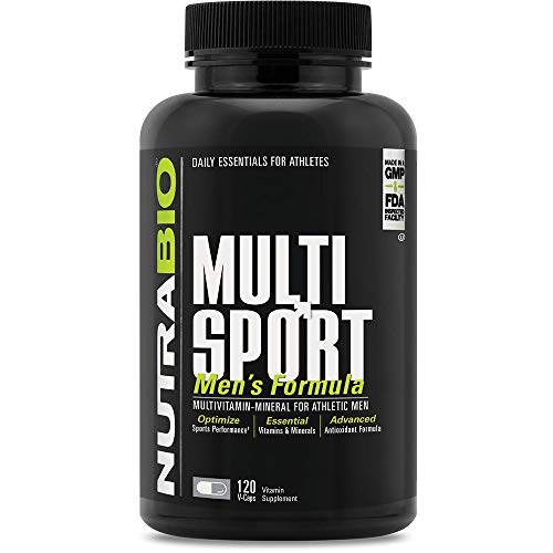 NutraBio Multisport for Men - 120 Capsules