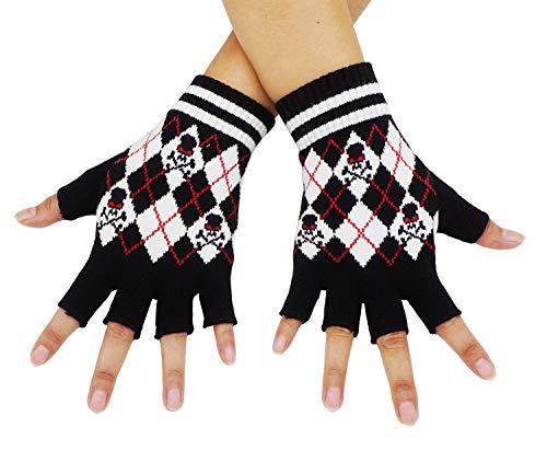 (Bienvenu Unisex Half Finger Gloves Kint Convertible Fingerless Winter Mitten,)