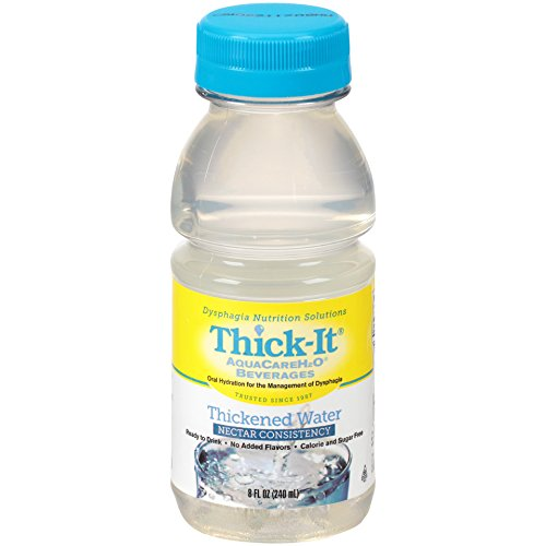 Thick-It Aquacare H2O Nectar Consistency Thickened Water Beverage, 8 Ounce (Pack of 24) (Honey Lemon Water)