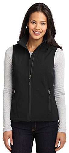 Port Authority Ladies Core Soft Shell Vest, Black, Large