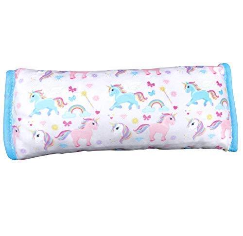 super soft belt pillow belt protection machine washable HECKBO Unicorn car sleeping pillow for children 11.8x 4.8 high quality car sleeping pillow