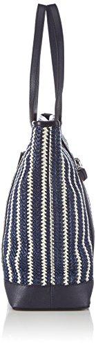 Gerry Weber Blue Lagune Tote - Bolso de mano de tela mujer azul - azul (dark blue)