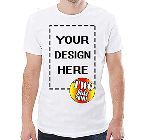 Custom T-Shirt Personalized for Men & Women Crewneck Add Your Image Photo Shirt Design Your own t ()