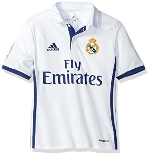 Adidas SOCCER Real Madrid Youth jersey, Large, White/Purple