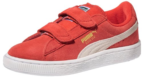 PUMA Suede Classic 2-Strap Sneaker  , High Risk Red/White, 10 M US Toddler