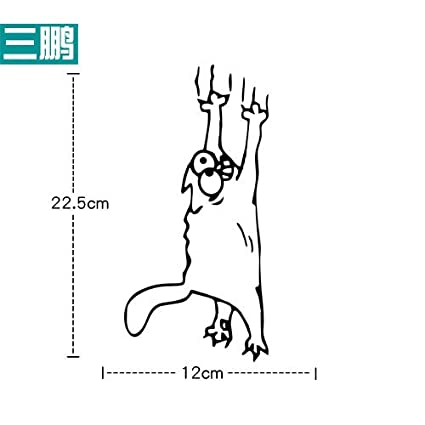 Simon's Cat Scratching Climbing JDM Car Stickers and Decals
