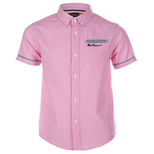 ben-sherman-boys-fine-stripe-shirt-6-red