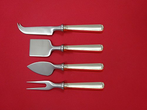Embassy Scroll By Lunt Sterling Silver Cheese Serving Set 4 piece HH WS Custom (Lunt Embassy Scroll)