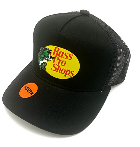 Bestsbrands  Authentic Bass Pro Shops Logo Mesh Cap For Kids And Youth Adjustable  Size Kids   Youth  Black