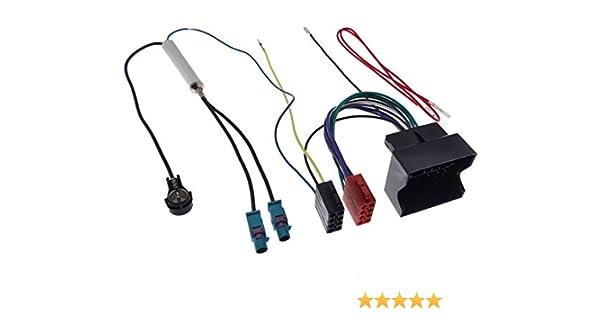 ALTEA adaptador ISO para SEAT IBIZA//LEON-Cable conector de audio con adaptador de antena amplificado fakra