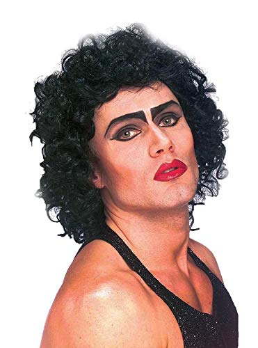 Forum The Rocky Horror Picture Show Frank And Furter Wig, Black, One Size -