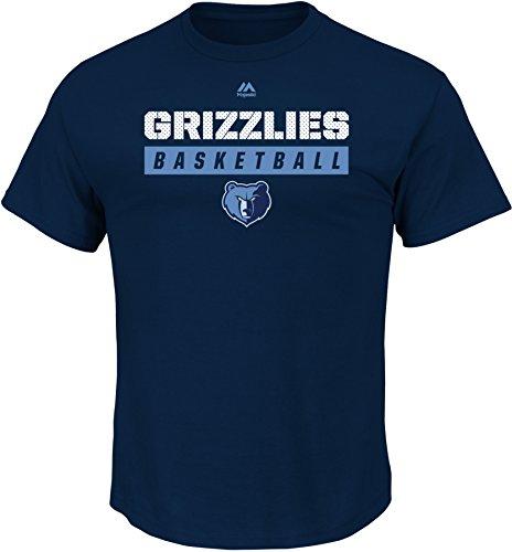 NBA Memphis Grizzlies Men's Proven Pastime Short Sleeve Crew Neck Tee, Large, Athletic Navy