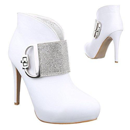 Ital-Design - Botas plisadas Mujer blanco