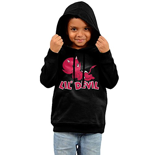 KYY Toddler Lil Devil Boy's & Girl's Sweatshirt Black Size 5-6 Toddler