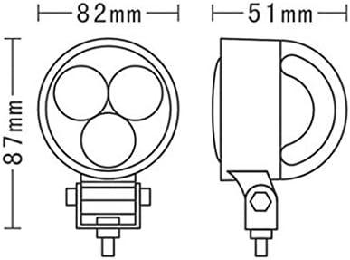 CRAWER Arbeitsscheinwerfer 12 Watt rund Epistar LEDs 6.000K Kaltwei/ß Indoor Offroad arbeitslicht arbeitsleuchte LED Leuchte Traktor lampe scheinwerfer IP68 3 mit jeweils