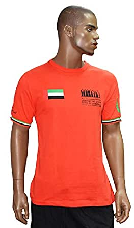 National Day Red Round Neck T-Shirt For Unisex