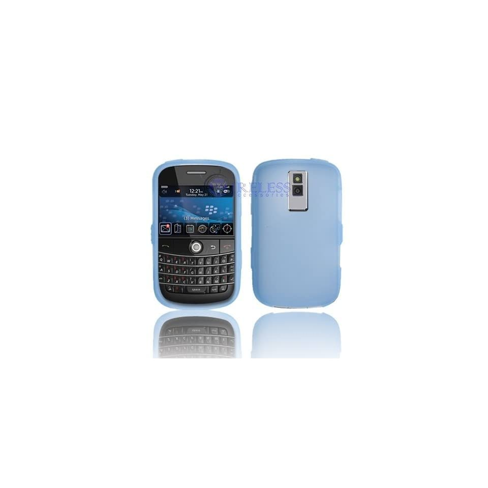 BlackBerry Bold 9000 Trans. Light Blue Silicon Skin Case
