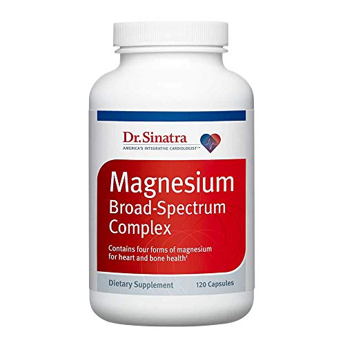 Support Broad Spectrum - Dr. Sinatra's Magnesium Broad-Spectrum Complex Supplement for Healthy Blood Pressure Levels and Healthy Blood Flow (200 mg, 120 capsules)