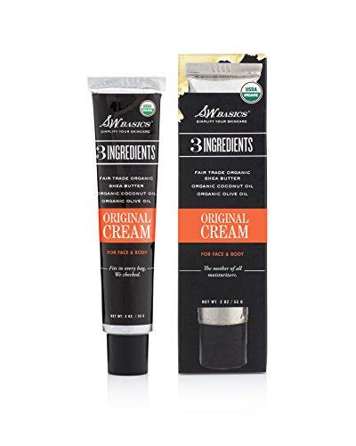 S.W. Basics Original Cream, Moisturizing Face and Body Lotion, Organic Fair Trade Shea Butter, Coconut Oil, & Olive Oil, 2.0 oz
