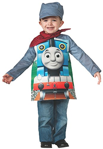 Rubies Thomas and Friends, Deluxe Thomas the Tank Engine and Engineer Costume, Child Small - Small One Color (Friends Costumes)