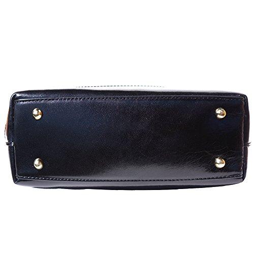 Leather Main Noir Détachable Market À Bandoulière Sac Avec 204 Florence IwdqnBzI