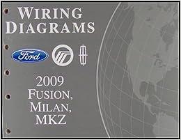 2009 Fusion Milan Mkz Wiring Diagram Manual Original Ford