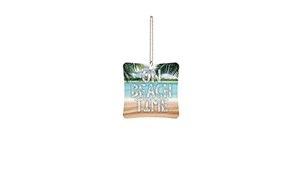 Graham Dunn On Beach Time Square 3 x 3 Wood Hanging Car Dangle Charm P Graham Dunn P