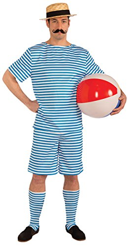 Beachside Clyde Adult Costumes (UHC Men's Beachside Clyde Outfit Funny Theme Fancy Dress Halloween Costume, L (46-48))