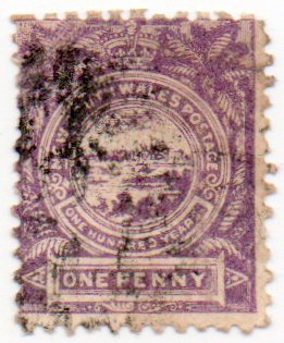 New South Wales Postage Stamp Single 1888 View Of Sydney Issue 1 Penny Scott #77