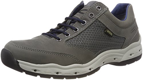 Uomo Grigio Oxford active Scarpe Grey GTX Breathe Stringate 11 camel 8Rw7xp0qYY