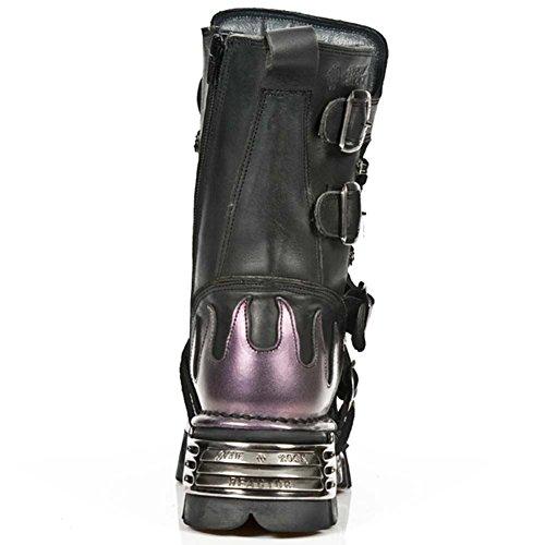 New S5 M Rock Stivali Violet Pelle 591 Black nero Metallic UWvZrFBqgU