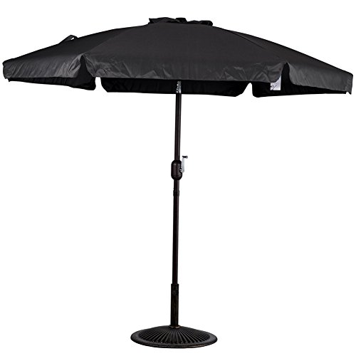 Sundale Outdoor 7.5 Feet Aluminum Beach Drape Umbrella With Crank And Push  Button Tilt, 6