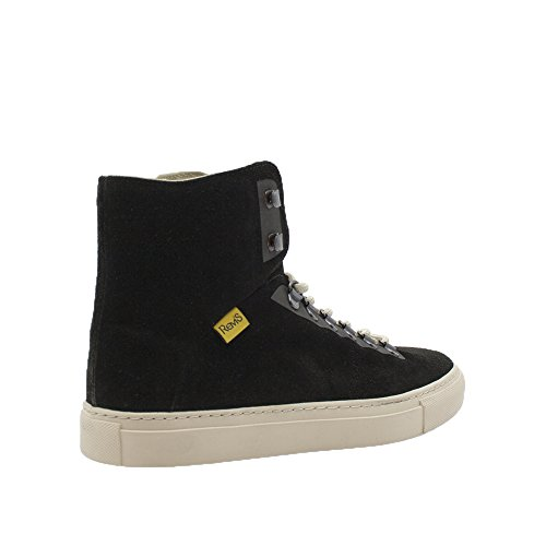 Rems Hombres Suede High Top Sneaker Black