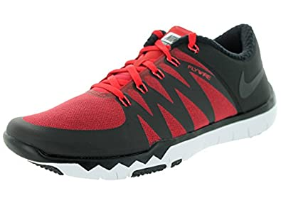 competitive price d2535 b98c8 Nike Free Trainer 5.0 V6 AMP Mens Black Red Silver Running Sneakers