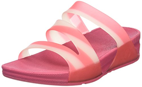 Fitflop Superjelly Twist With Stripe - Sandalias Mujer rosa (Bubblegum)
