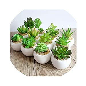 be-my-guest A Set Artificial Green Plant Artificial miniascape/Bonsai/Potted Home Balcony Decoration Decorative Flower Succulent Plants 47