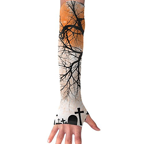 Happy Halloween Pumpkin Castle Long Sleeve Sun Protection Arm Sleeves Arm Cooling Sleeve Cycling Outdoor Sports Leisure Shirt Outdoor Sports (Halloween Pumpkin Cooler Dry Ice)