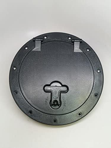 """BLACK HATCH COVER DECK PLATE WITH STORAGE BAG FOR MARINE BOAT KAYAK 7.8/"""""""