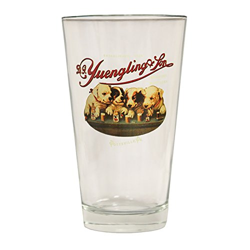 (Yuengling Brewery Dogs logo Since 1907 Beer Pint Glass )