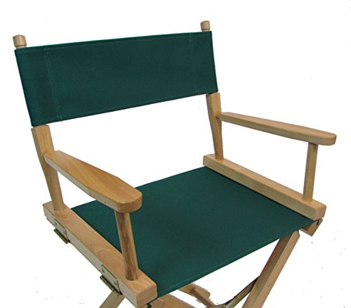 (Everywhere Chair Replacement CANVAS Covers for Directors Chair (ROUND STICK) - Hunter Green)