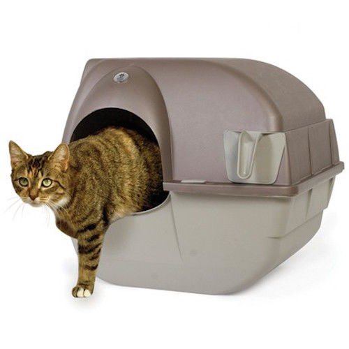 Self Cleaning Cat Litter Box Roll Kitty Pewter Scoop Automatic Toilet Pet - Sunglass Scoop