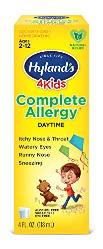 Kids Allergy Medicine by Hyland's 4Kids, Non Drowsy Childrens Complete Allergy Relief Syrup, Safe and Natural for Indoor & Outdoor, 4 Oz (Packaging May Vary) ()