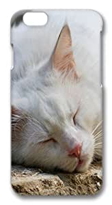 White Cat Sleeping PC Case Cover for iphone 6 plus 5.5inch by ruishername